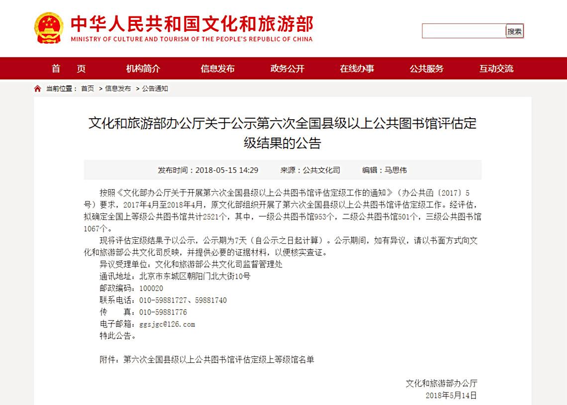 文化和旅游部办公厅关于公示第六次全国县级以上公共图书馆评估定级结果的公告_meitu_1.jpg